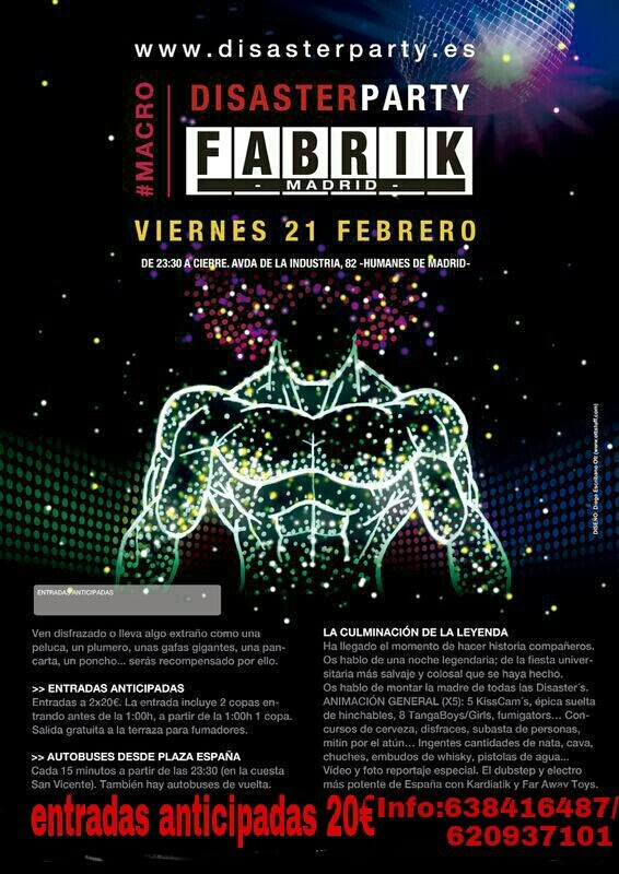 DISASTER PARTY - Fabrik -  Viernes 21 de Febrero
