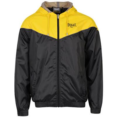 Everlast Men's Nylon Jacket - Black/Yellow