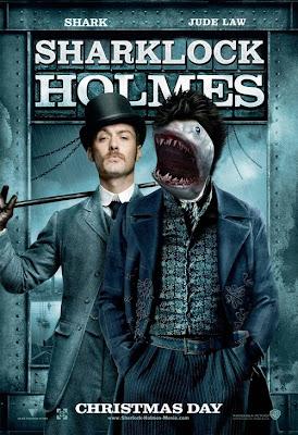 parodie affiches de films avec des requins sherlock holmes