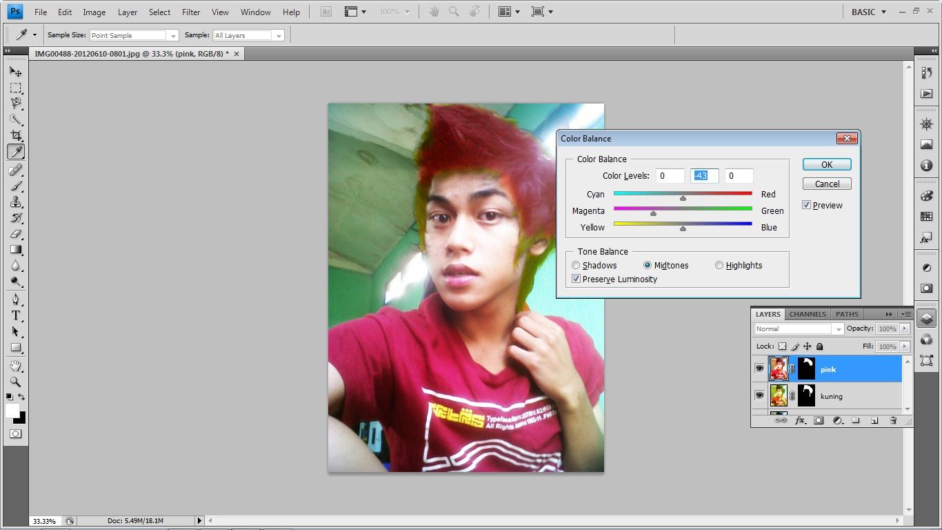 Cara merubah warna background pas foto dengan photoshop cs4 41