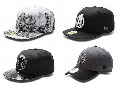 The Avengers Hat Collection by New Era - All Over Sketch, Avengers Basic, Shield & DYAD Hero