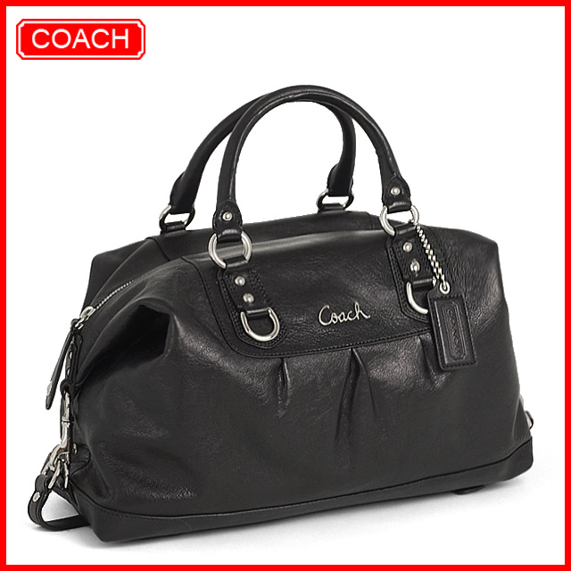 6c0cecd65b ... inexpensive brand new coach ashley large leather satchel. black c0a21  77352