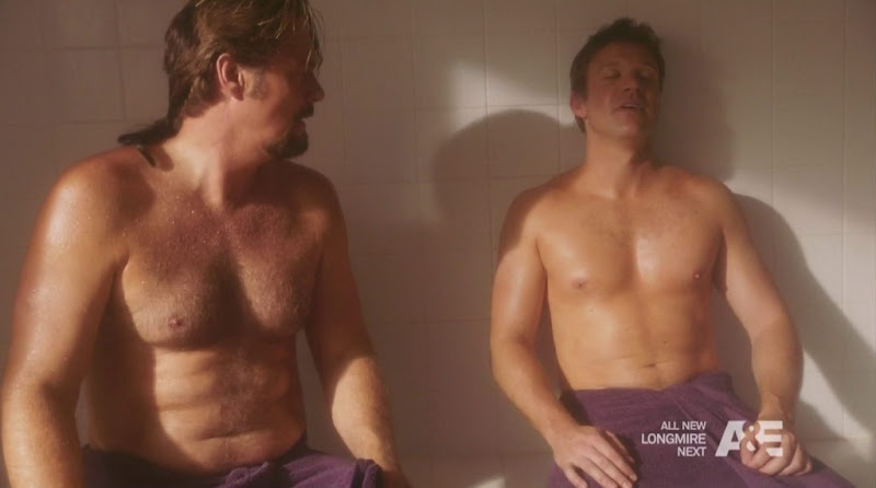 Matt Passmore and Greg Evigan Shirtless in the Glades s3e08