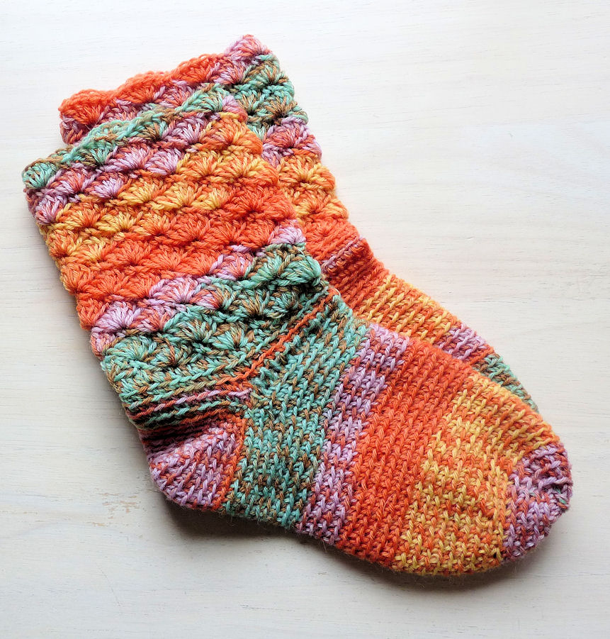 Crochet Sock Pattern : PATTERN FOR CROCHET SOCKS - Easy Crochet Patterns