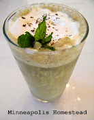 Healthy Shamrock Shake vegan, Paleo, dairy free, no added sugar