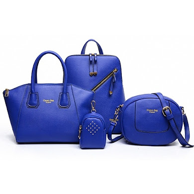 AA FASHION BAG (4 IN 1 SET) - BLUE