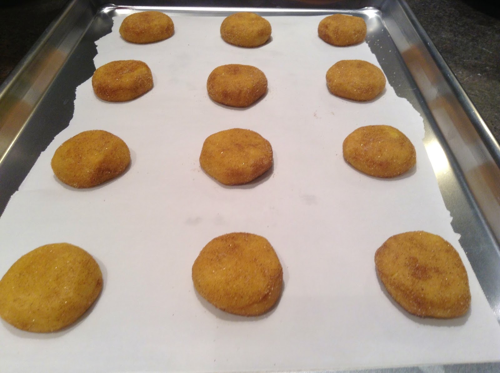 Lemon Cake Mix Snickerdoodles ready for the oven