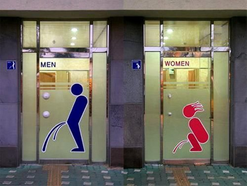Few Amazing Toilet Sign | Stylish Toilet Sign | Stylish Toilet ...