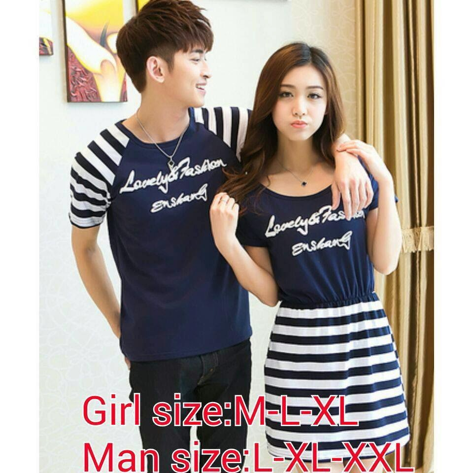 Baju Kaos Couple Warna Hitam
