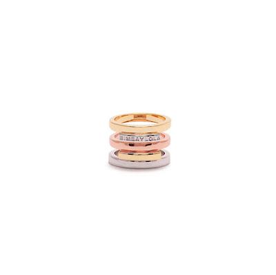 saldos Wish list da Bimba&Lola - anel dourado e prateado