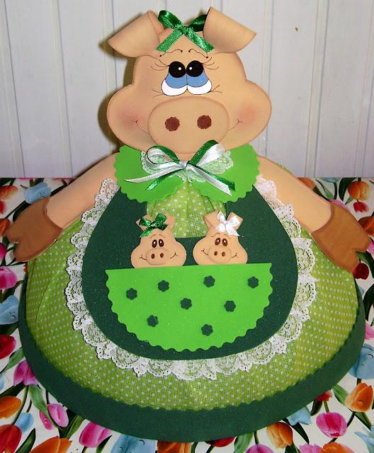 Adesivo Decorativo De Parede Cozinha ~ Celeiro Artesanato Cobre bolo em EVA e tecido com molde pap