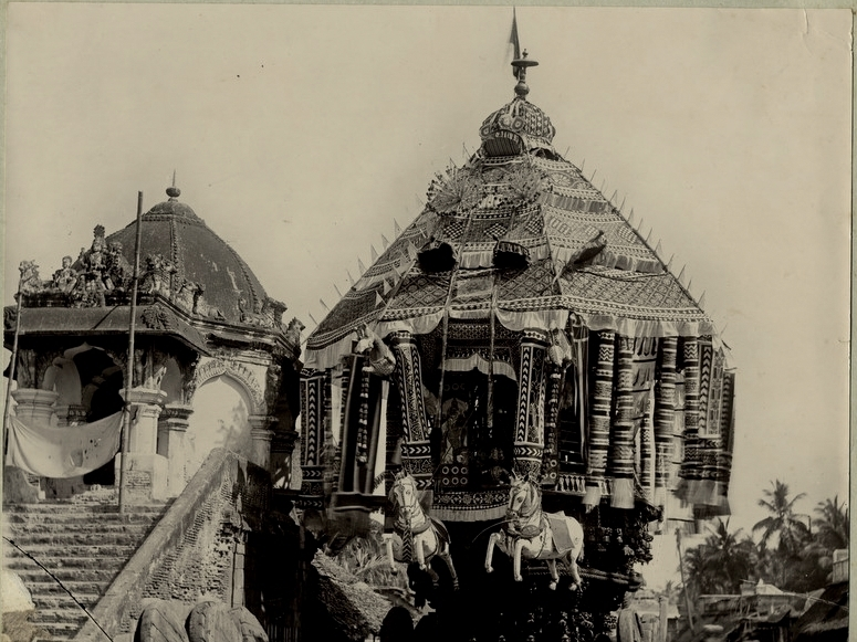 Decorative Temple at Tanjore (1880's)