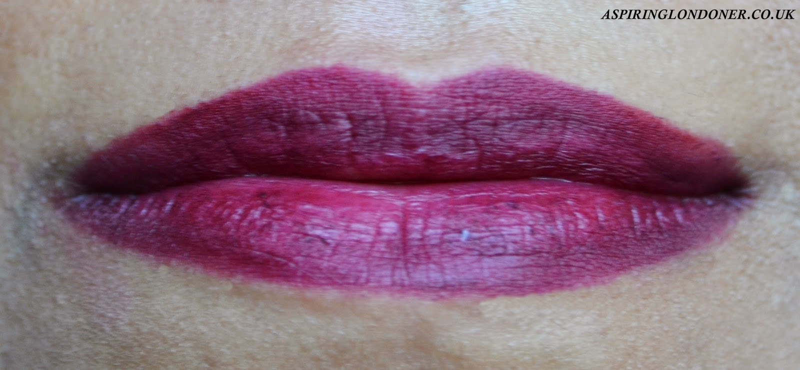 Kiko Smart Lip Pencin in 710 Rouge Noir Swatch - Aspiring Londoner