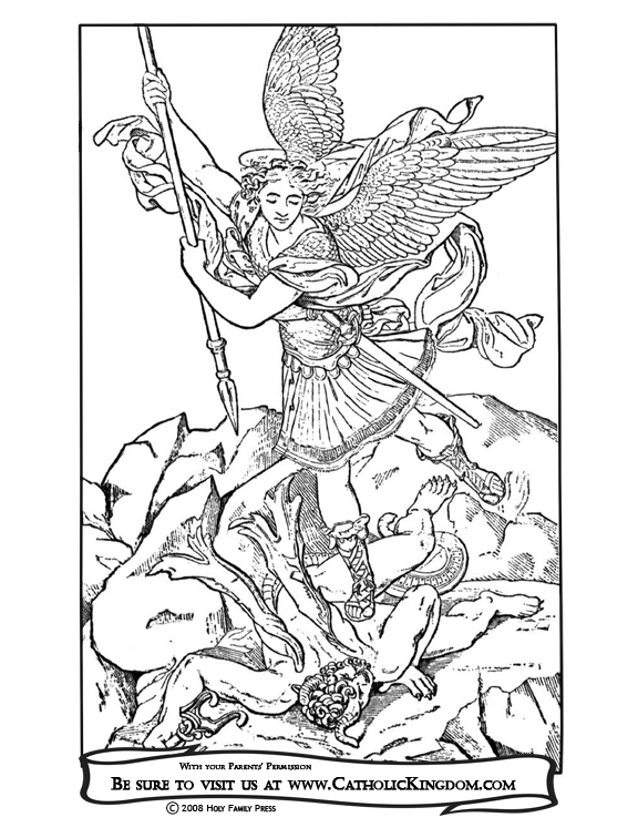 St. Michael Coloring Page