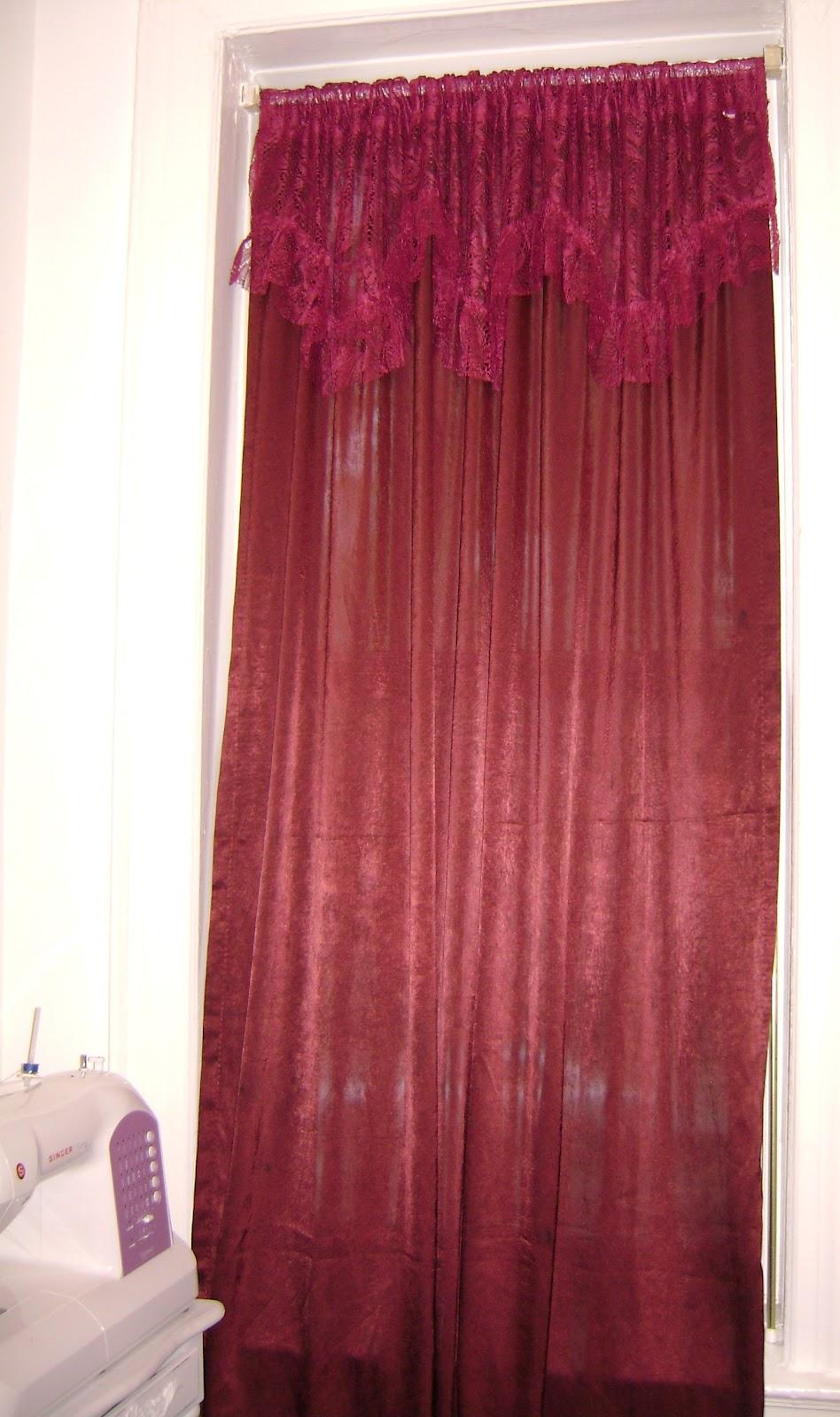 Elegant Simplicity Diy Victorian Curtains Burgundy