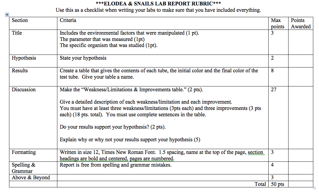 lab report on photosynthesis