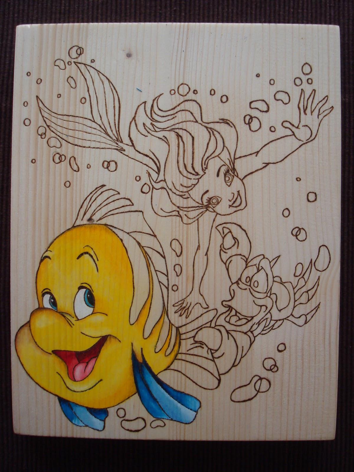 """Top La Bottega di Lu: Quadro su legno """"LA SIRENETTA"""" EZ44"""