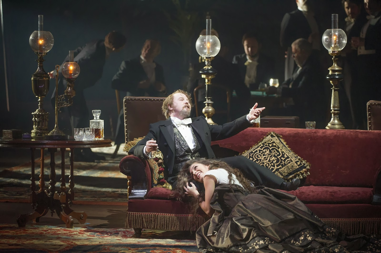 Barry Banks in Christopher Alden's production of Rigoletto - ENO - Photo credit Alistair Muir