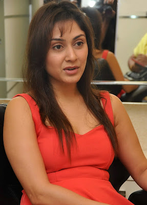 Manjari+(4) Manjari Phadnis Super Hot Photos in Red Dress At The Launch Of Naturals Family Salon & Spa
