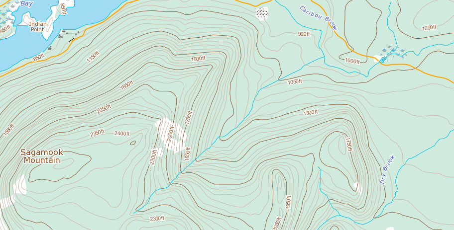 Mount Sagamook - Great contours!