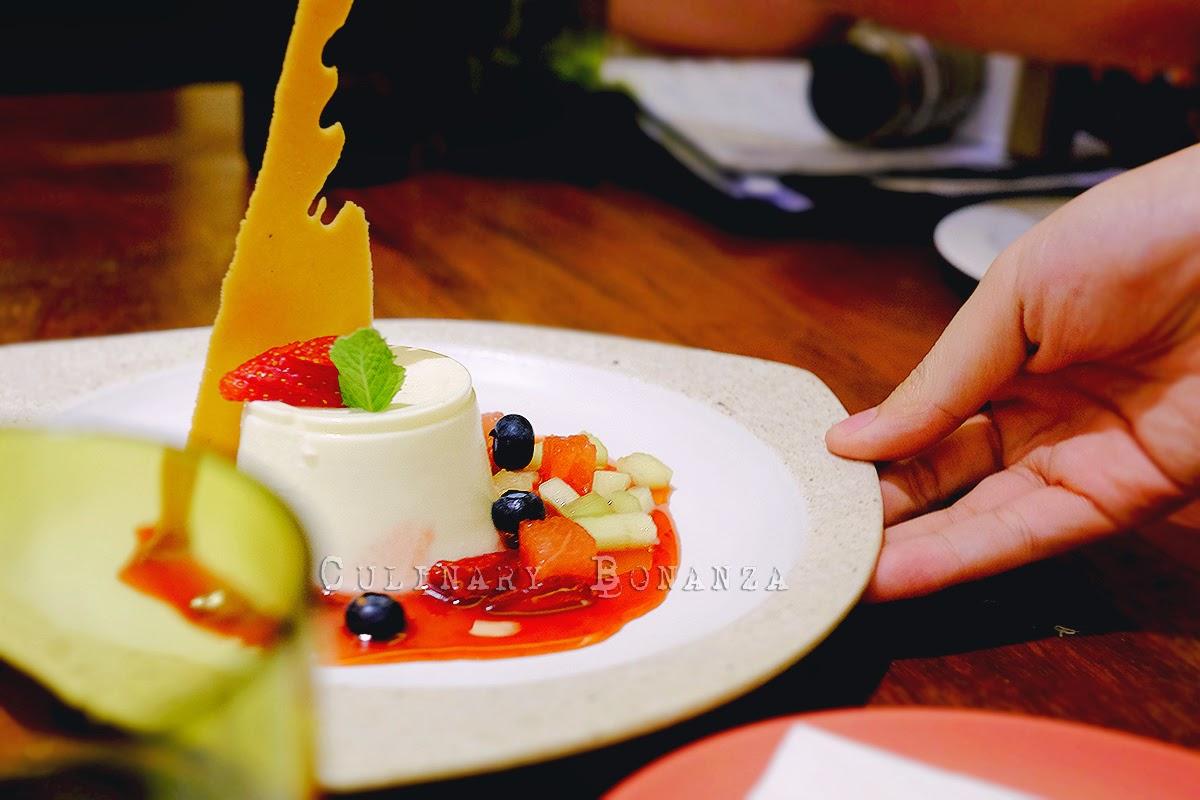 Panna Cotta & Berry Sauce