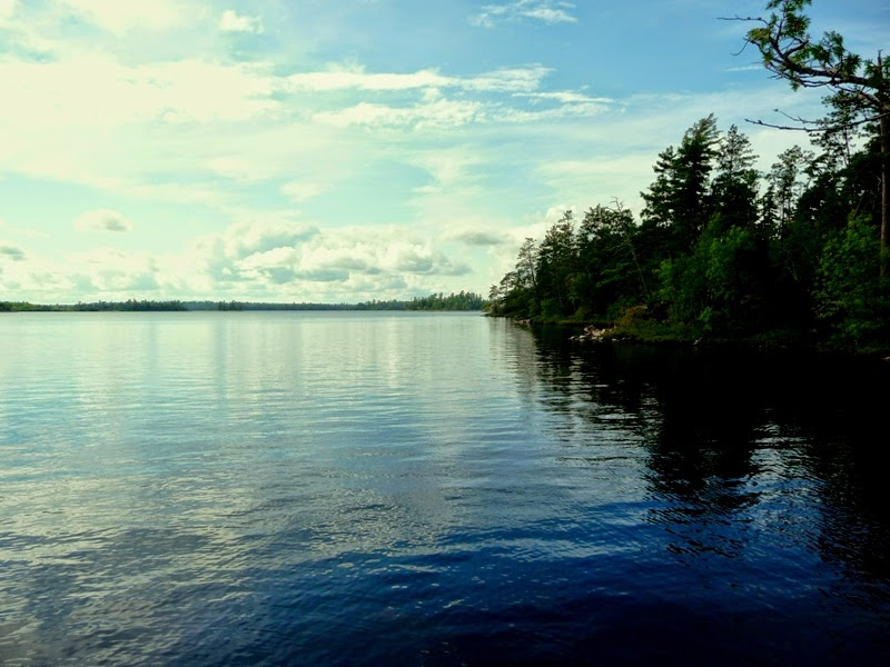 enjoying the wilderness in the BWCAW