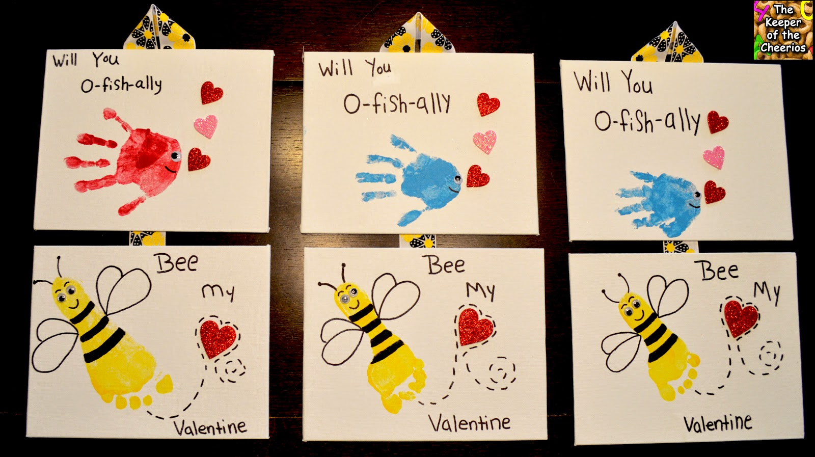 Valentines Day Hand And Footprints Will You O Fish Ally Bee My Valentine