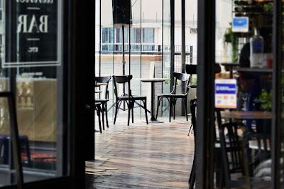 cafe restaurant front door