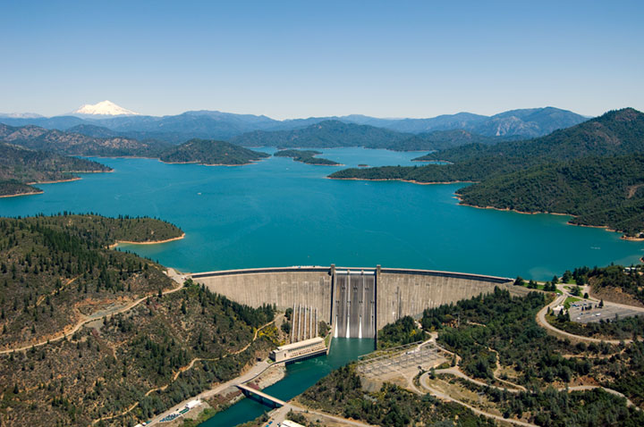 Shasta Dam (Built from 1938 - 1945)