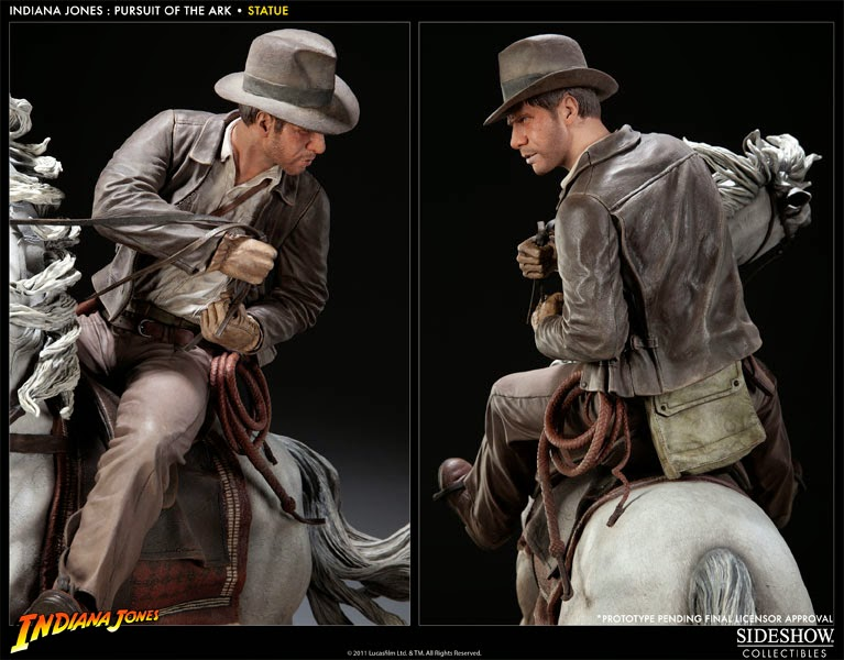 Estátua Indiana Jones Sideshow