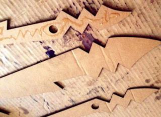 Membuat Pola Penebal depan & Belakang pedang