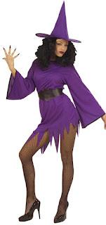 Lilla heksekjole til Halloween