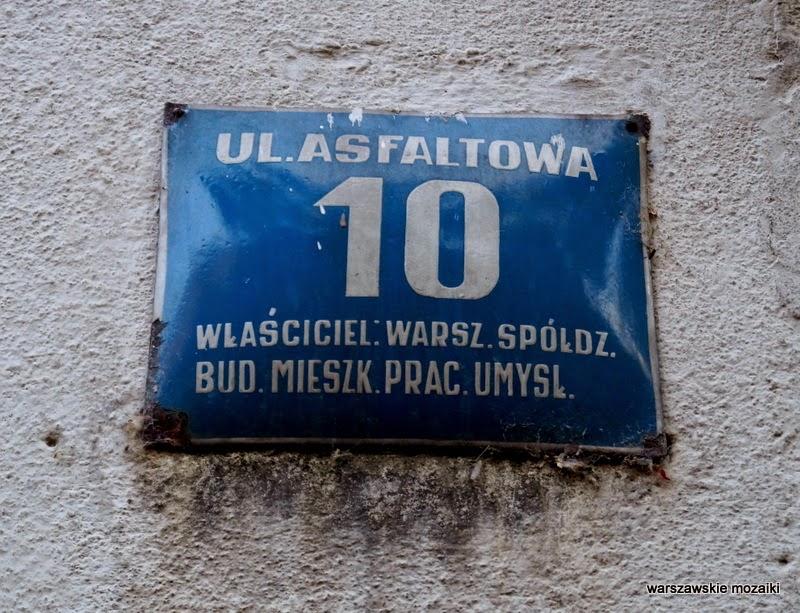 tabliczka Warszawa Stary Mokotów kamienica kamienice ulica zabytek lata 30 Sigalin Gelbard Wierzbicki brama