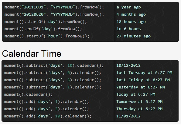 Twitter Facebook Like Time Difference using jquery