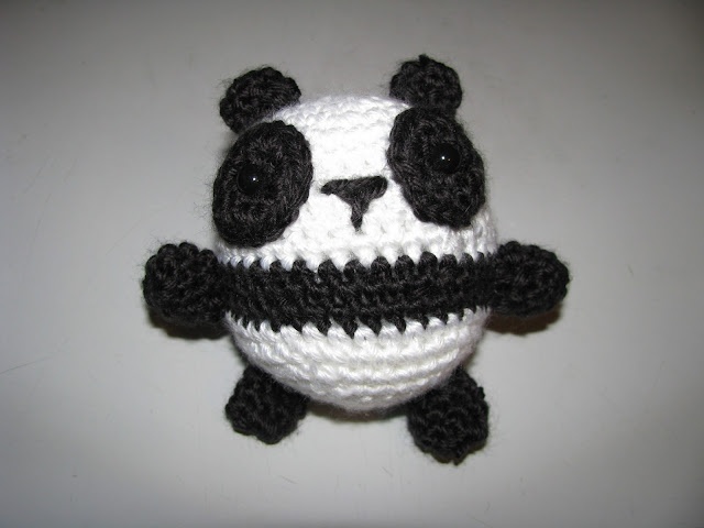 April Sprinkles: Panda Ball Amigurumi from Lion Brand Yarn