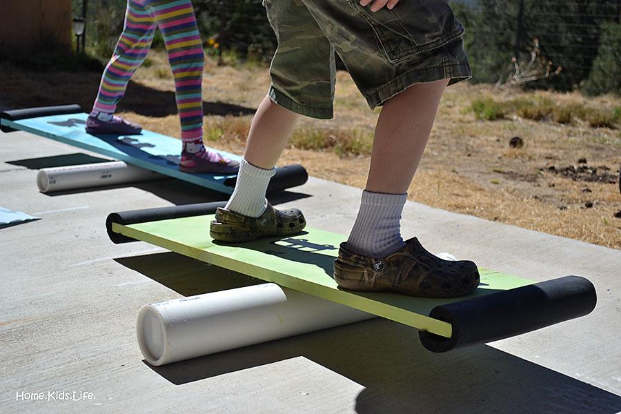 home kids life creating family fun balance boards. Black Bedroom Furniture Sets. Home Design Ideas