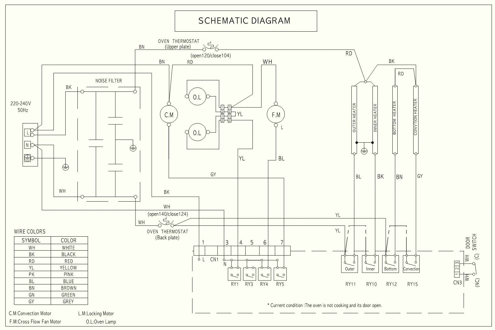 Lg Lb641152s Oven How To Disassemble The Door Schematic Diagram 240v Wiring Lb641122s 01 Es441s Electric Circuit