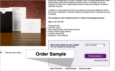 Free Wedding Invitation Samples from Bed Bath Beyond