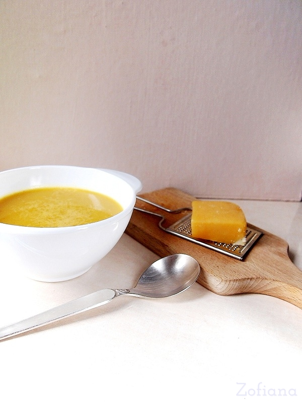 pumpkin soup with ginger and coconut milk
