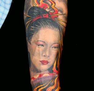 Imagens de Tatuagens Femininas de Gueixa