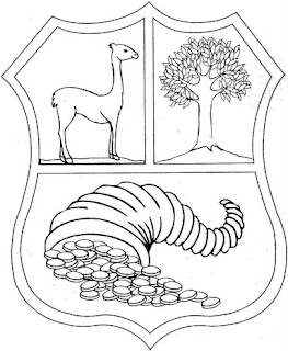 Escudo de Perú para colorear