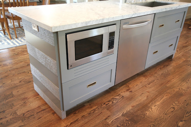 really affordable option to a built-in microwave with a metal trim kit ...