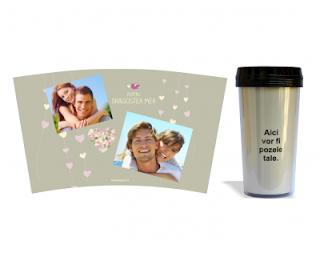 Imaginea cu cana termos personalizata si mesajul ales. Click pentru detalii si comanda online.