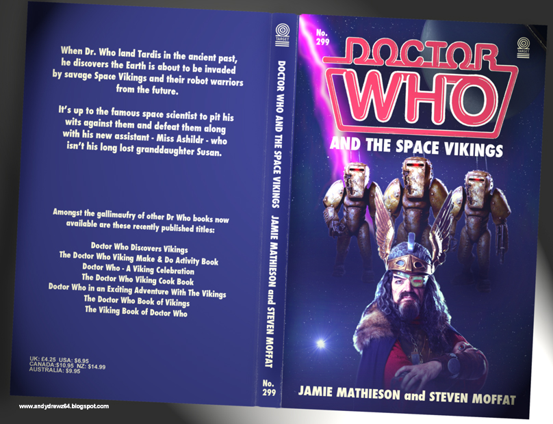 Book Covering Contact Target : Andydrewz s pages doctor who and the space vikings