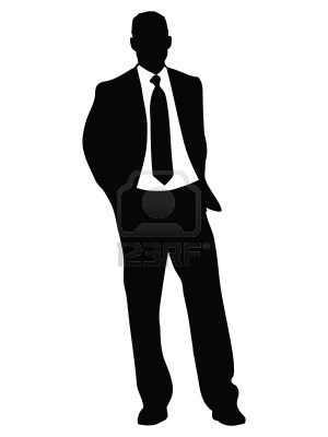 حقائق ثابتة عن الرجال...يجب ان تعرفها المرأة - business-man-standing-illustration-silhouette-isolated-over-a-white-background