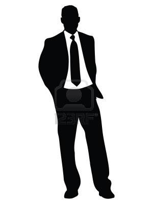 حقائق ثابتة عن الرجال...يجب ان تعرفها المرأة - business-man-standing-illustration-silhouette-isolated-over-a-white-background