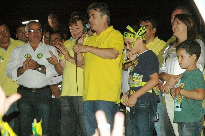 Cássio visita Zabelê ao lado da prefeita Iris Henrique e do ex-prefeito Lucivaldo