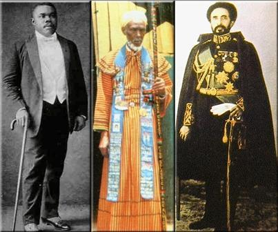 Marcus Mosiah Garvey, King Emmanuel C. edwards, Haile selassie I