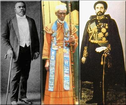 Marcus Mosiah Garvey, King Emmanuel C. edwards, Haile selassie I
