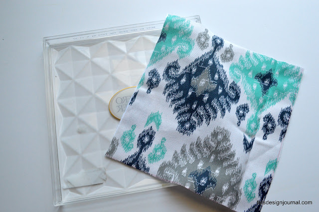 Up-Cycled Acrylic Tray with Fabric